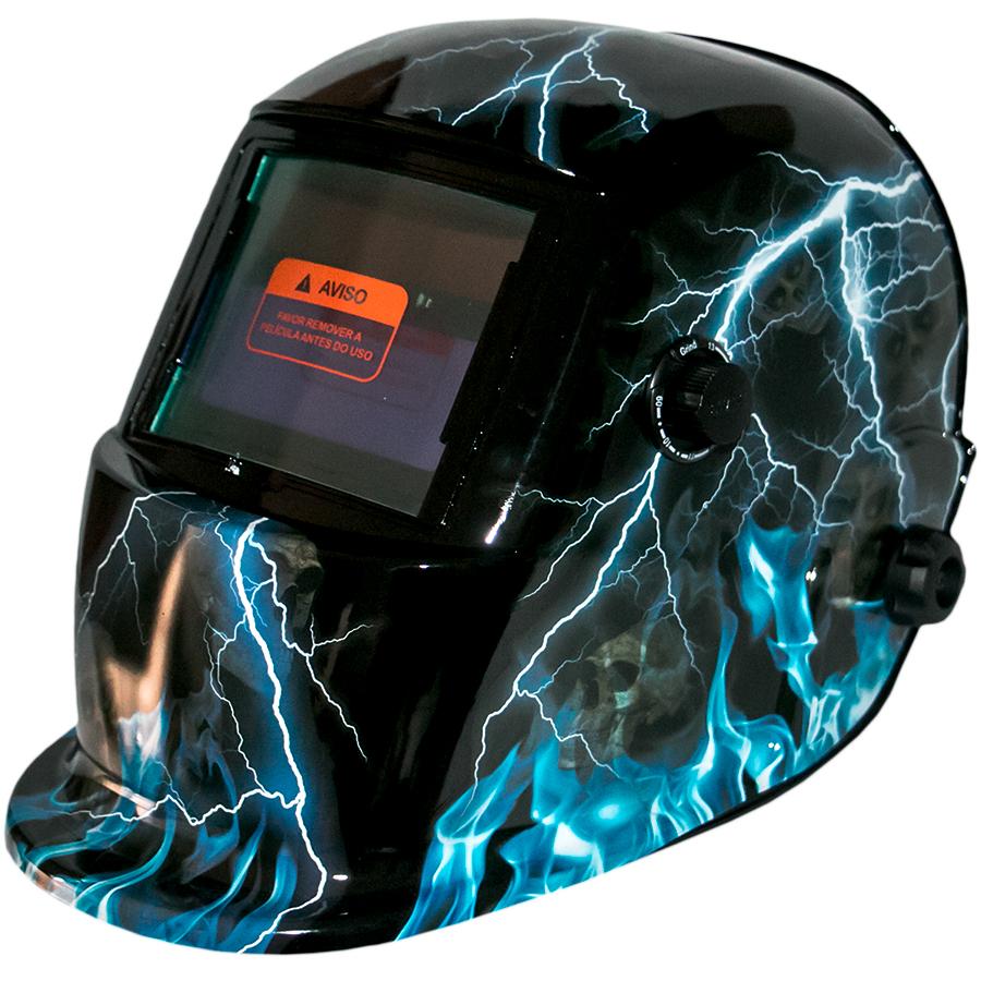 Máscara de Solda Personalizada Trovão - Escurecimento Automático - WWSoldas